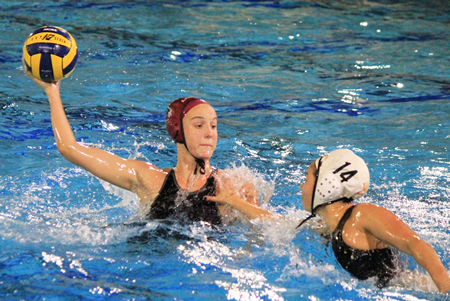 Makenzie Fischer scored five goals in Laguna's 13-3 win over Foothill in the Finals of the Holiday Classic at Newport Harbor High on Saturday, Jan 3.