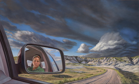 "Sharon Allicotti's ""Side View Mirror,"" will be displayed at the LCAD show."