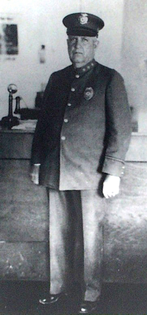 Chief Abe Johnson, the town's first police chief, in 1927.