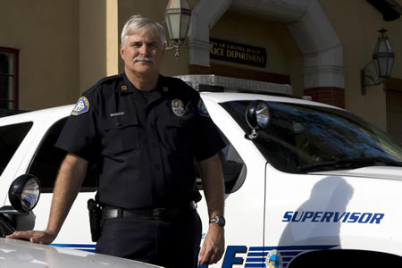Police Chief Paul Workman's career with the department began in 1975.