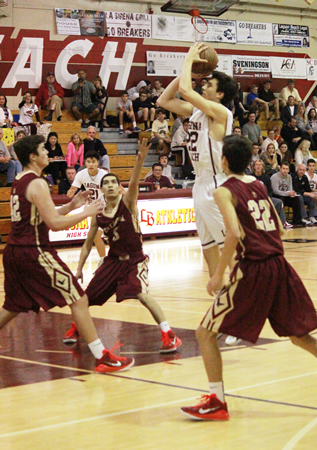 Freshman Blake Burzell led all scorers with 24 against Estancia at Dugger Gym on Friday, Feb. 6.