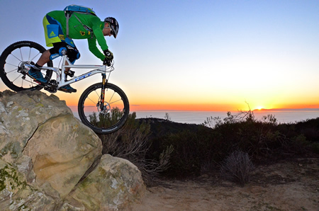 Champion biker and Laguna Beach resident Hans Rey credits mountain bikers for off-season boost to the local economyPhoto by Carmel Freeman-Rey