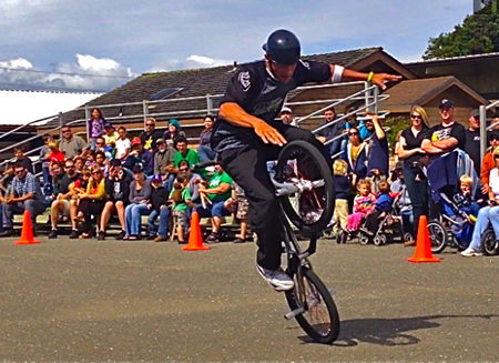 Robert Castillo's BMX Freestyle Team in action.