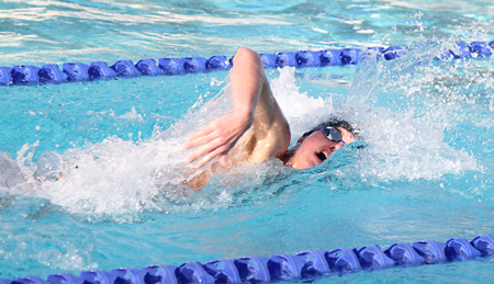 Ben Greenwood in the pool against Pacifica. Photo by Robert Campbell
