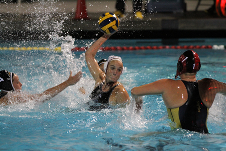 Makenzie Fischer draws a trio of Foothill Lady Knights during CIF finals Feb. 28.