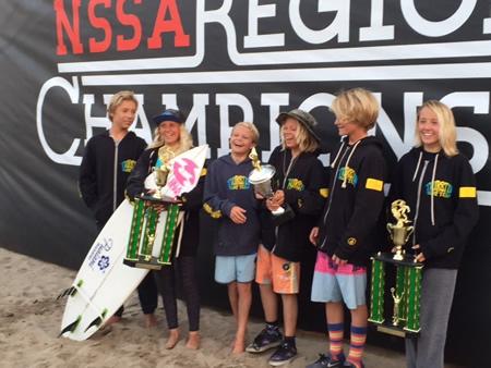 The Thurston's surf team.