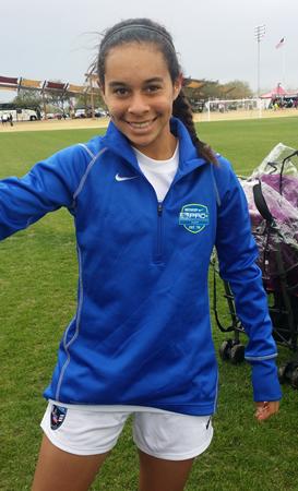 Soccer star and seventh-grader Samantha Williams.