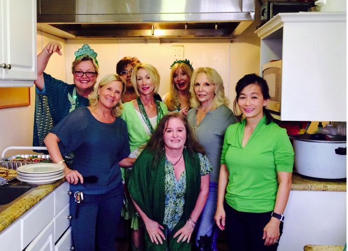 Photo: Maggie Hempen, far left, and other guest chefs for the Friendship Shelter.