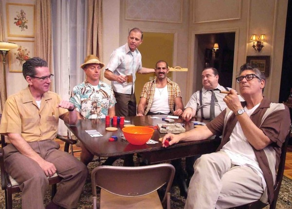 """A scene from """"The Odd Couple,"""" underway at Laguna Playhouse, 606 Laguna Canyon Road. (949) 497- 2787. Wed.-Sat., 7:30 p.m.; Sunday, 1 and 5:30 p.m. Through March 29."""