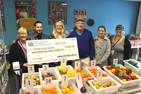 It's no wonder Laguna Food Pantry supporters are all smiles.