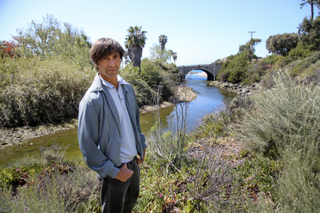 El Almanza of Laguna Ocean Foundation, which won a grant to explore restoration of Aliso Creek's estuary. Photo by Jody Tiongco.
