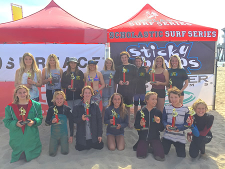 Front row from left: Lola Fisher, Luke Smialowicz, Gaal Shonefeld, Isabella Petersen, Travis Booth, Jamison Roller, and Ryan MaGee; back row, Liv Stokes, Claire Kelly, Tess Booth, Kayla Coscino, Alex Wick, Cole Fink, Liam McCue, Grace Fink, and Kelly Smith.
