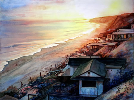 "WF Swan's scene of Crystal Cove is included in ""Fresh Faces."""
