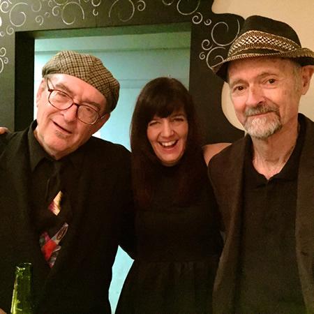 Vocalist Victoria McGinniss with Lyle Rennick and Jack Prather.