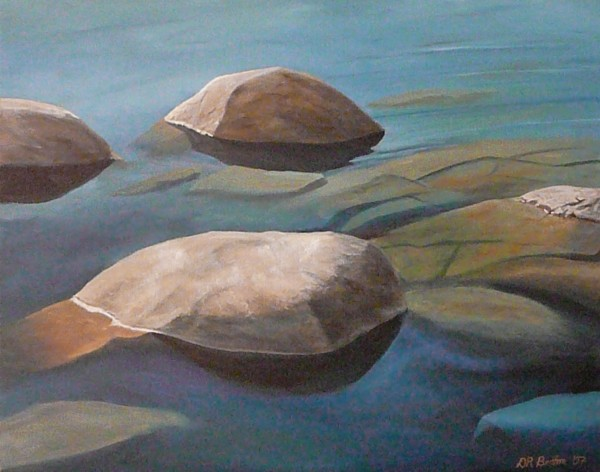"Don Britton works includes ""Tahoe Blue,"" part of Artist Eye's latest exhibit."