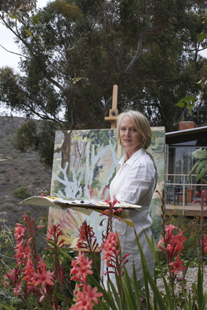 Artist Gianne de Genevraye shares her appreciation for Mediterranean plants in the Hortense Miller Garden, which holds an open house May 30 for the first time in two years.