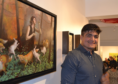 Artist Julio Labra at Rawsalt's inaugural opening, an expansion of the Salt Fine Art gallery. Photo by Suzanne Walsh.