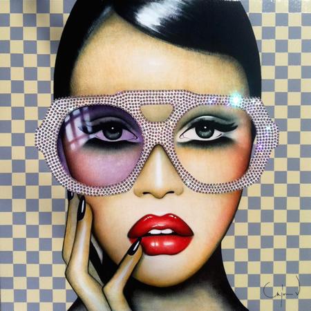 "Belgian-born artist Anja Van Herle's ""Big Pinky"" at Artman Gallery."