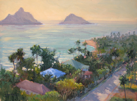 ": ""View From The Cliff House,"" a small Baas canvas included in the new show."