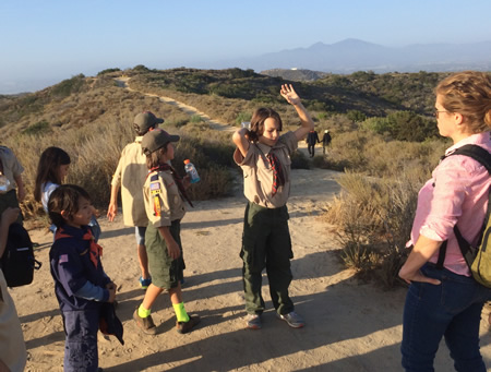 Hallie Jones, right, plants the seeds for wilderness protection in the next generation.