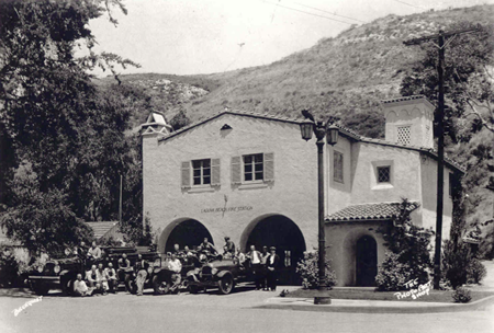A '30s era image of Fire Station One on Forest Avenue.