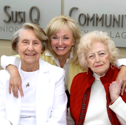 Elizabeth Pearson, center, with part Laguna Beach Seniors presidents Pauline Walpin, left, and the late Louise Buckley.
