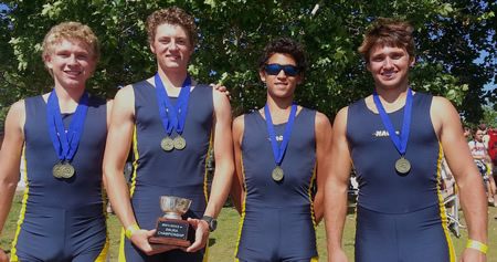 From left, Ian Detweiler, Anthony Morrell, Zach Spitz and Chad Kanner.