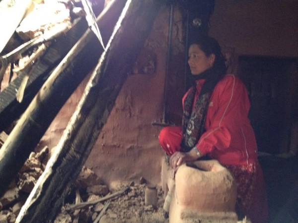 Sarita in Wojethar house