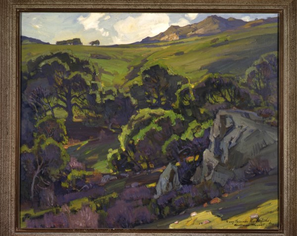 "Laguna Hills,"" a 1928 work by Wendt, owned by a private collection, courtesy of The Irvine Museum."