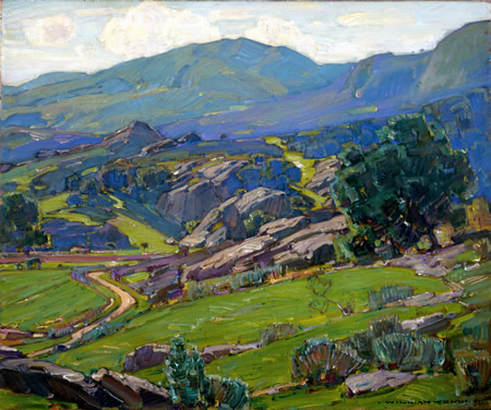"Wendt's ""Spring in the Canyon,"" 1926, gift of Mrs. W.A. Griffith, collection and courtesy of Laguna Art Museum."