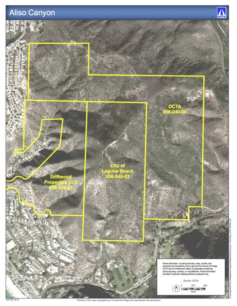 A detail of the area where OCTA purchased property.
