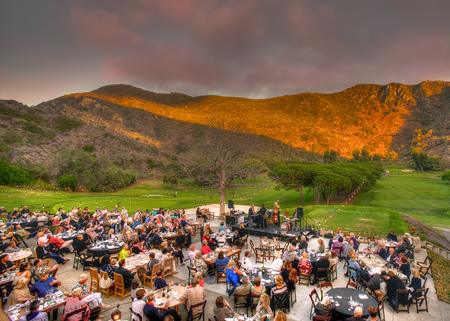 Guests overlook Aliso Canyon for a previous bluegrass concert at The Ranch.