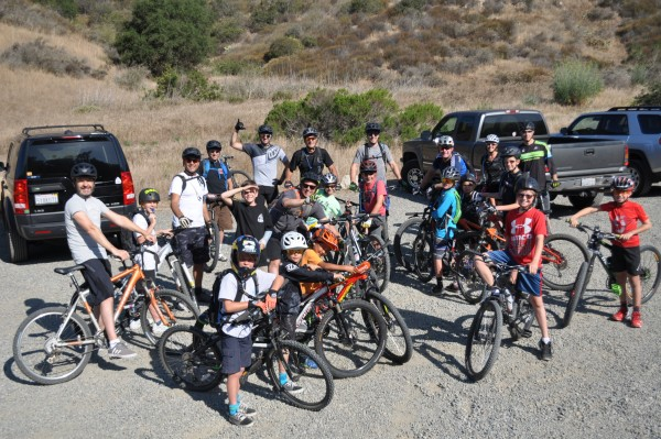 Laguna Canyon Riders take to the local hills for a weekend outing.