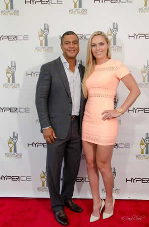 Walking the red carpet were donors and supporters Olympic champion skier Lindsey Vonn and ESPN Sport Center host Stan Varrett.