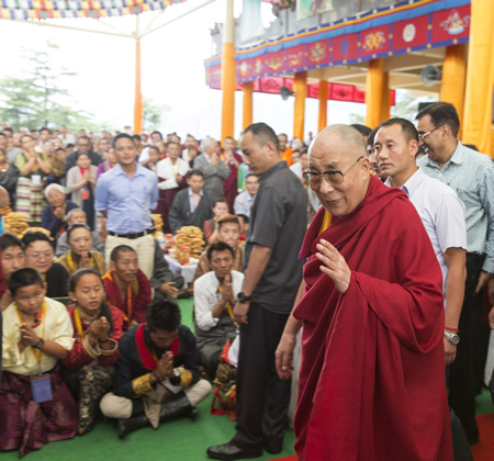 A celebration took place in India for the 80th birthday of the Dalai Lama, who returns to Orange County July 5-7 for a visit.