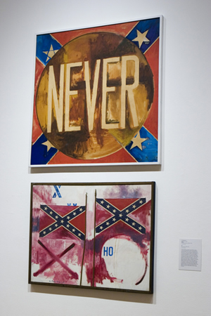 G. Ray Kerciu's Confederate flag paintings.