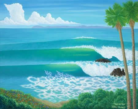 An example of John Chaney's work, which will be on display at the arts foundation concert.