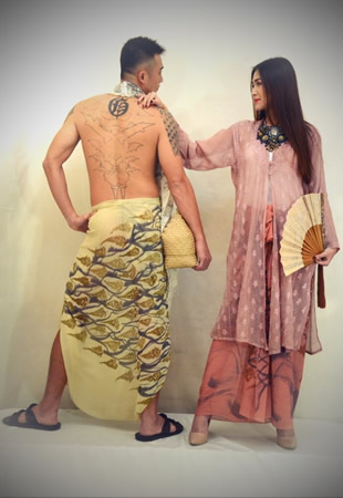 From the collection of Edric Ong, one of the designers participating in the textile festival.