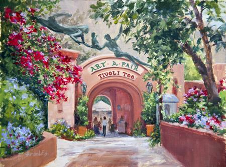 An artist's take on Art-a-Fair grounds.
