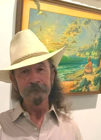 Bill Ogden with one of his works.