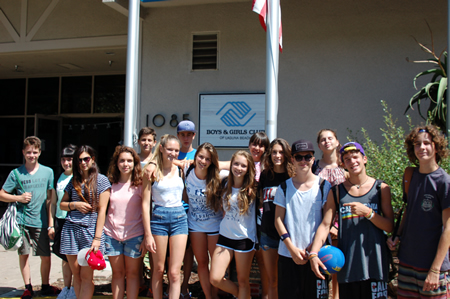 Italian students visit the Boys and Girls Club.