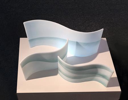 """Makai,"" kiln-fused glass, is Marjorie Sanders' new interest. Photo by Marjorie Sanders"