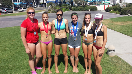 Girls 16 and under winners.