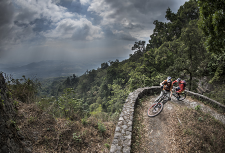 Hans Rey and Austrian champion trail biker Tom Oehler explore  Guatemala.