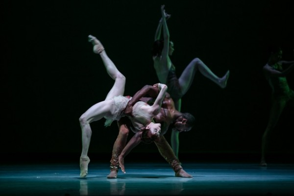 "Lines Ballet in ""Biophony,"" whose dancers move to music of the natural world. Photo by Quinn B Wharton"