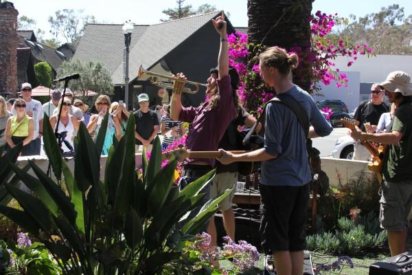 : Denmantau drew an appreciative crowd during the Fete de la Musique earlier this summer.