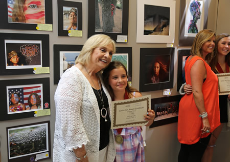 """Third grader Sophia Tosti from the Laguna Beach Boys and Girls Club received first place for her photograph """"Clear Water"""""""