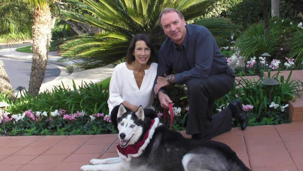 Susan and Stuart Davis with their dog, Legend, rescued with the aid of a Samaritan and police dispatchers.