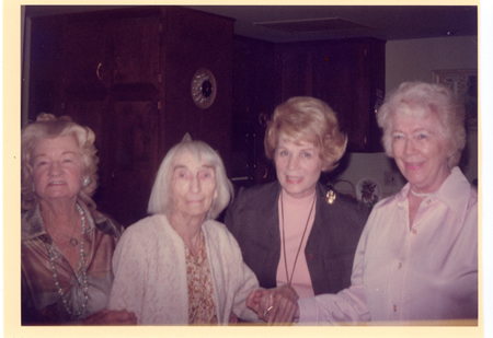 Daughters of one of Laguna's pioneer founders: from left sisters Anita SkidmoreMcElreeLee and LeeSkiddmore Farman, and their daughters Joyce Lowell and Thelma Farman Aufdenkamp. Undated photo.