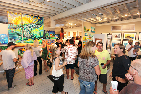 The session at a weekend pop-up surf art exhibit at Forest and Ocean Gallery.